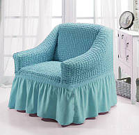 Чехол на кресло Турция цвет Голубой