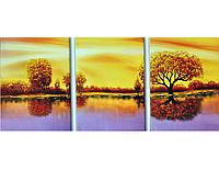 Набор для вышивки триптих картины Золотая Осень 157х71см