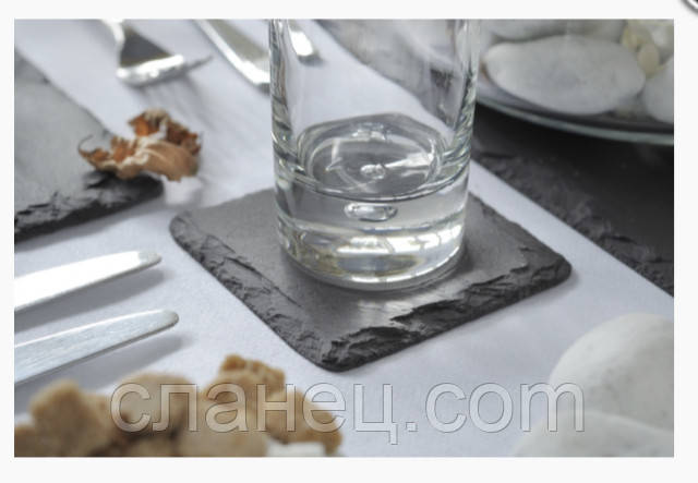 Костеры подставки под чашки 9,3 х 9,3 см из сланца
