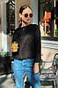 Женская красивая укороченная ворсистая ангоровая кофта свитер норма и батал большие размеры, фото 8