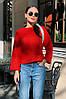 Женская красивая укороченная ворсистая ангоровая кофта свитер норма и батал большие размеры, фото 10
