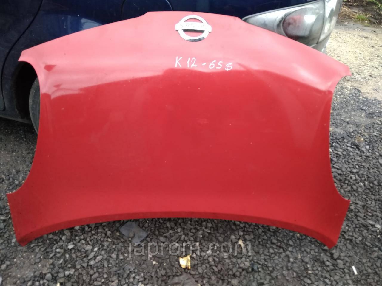 Капот Nissan Micra K12 2002-2010г.в.красный