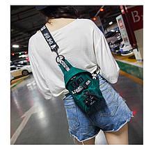 Слінг сумка HiFlash в корейському стилі жіноча зелений, фото 3