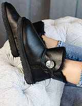 Угги женские в стиле UGG Australia Mini Bailey Button Black, фото 2