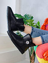 Угги женские в стиле UGG Australia Mini Bailey Button Black, фото 3