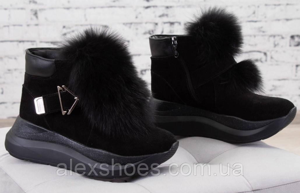 Ботинки молодежные зима из натуральной замши от производителя БС7015-2