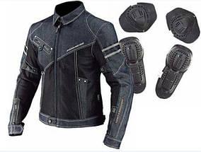 Джинсовая защитная летняя мото куртка Komine JK006