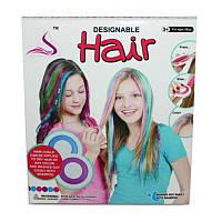 """Косметика """"Мелки для волос"""" 89020 (1434336) (48шт/2) с мягкими крышечками для зажима волос, в кор.14*5*16см"""