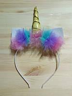 Обруч на голову, ободок для волос  Единорожка, фото 1
