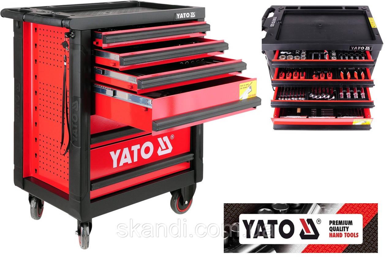 Сервисная тележка на колёсах с 177 инструментами Yato (Оригинал) Польша YT-5530