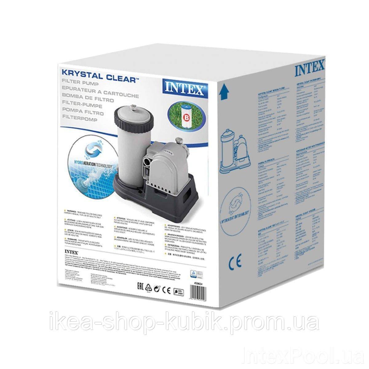 Картриджный фильтр насос Intex 28634, 9 463 л/ч, тип B 4
