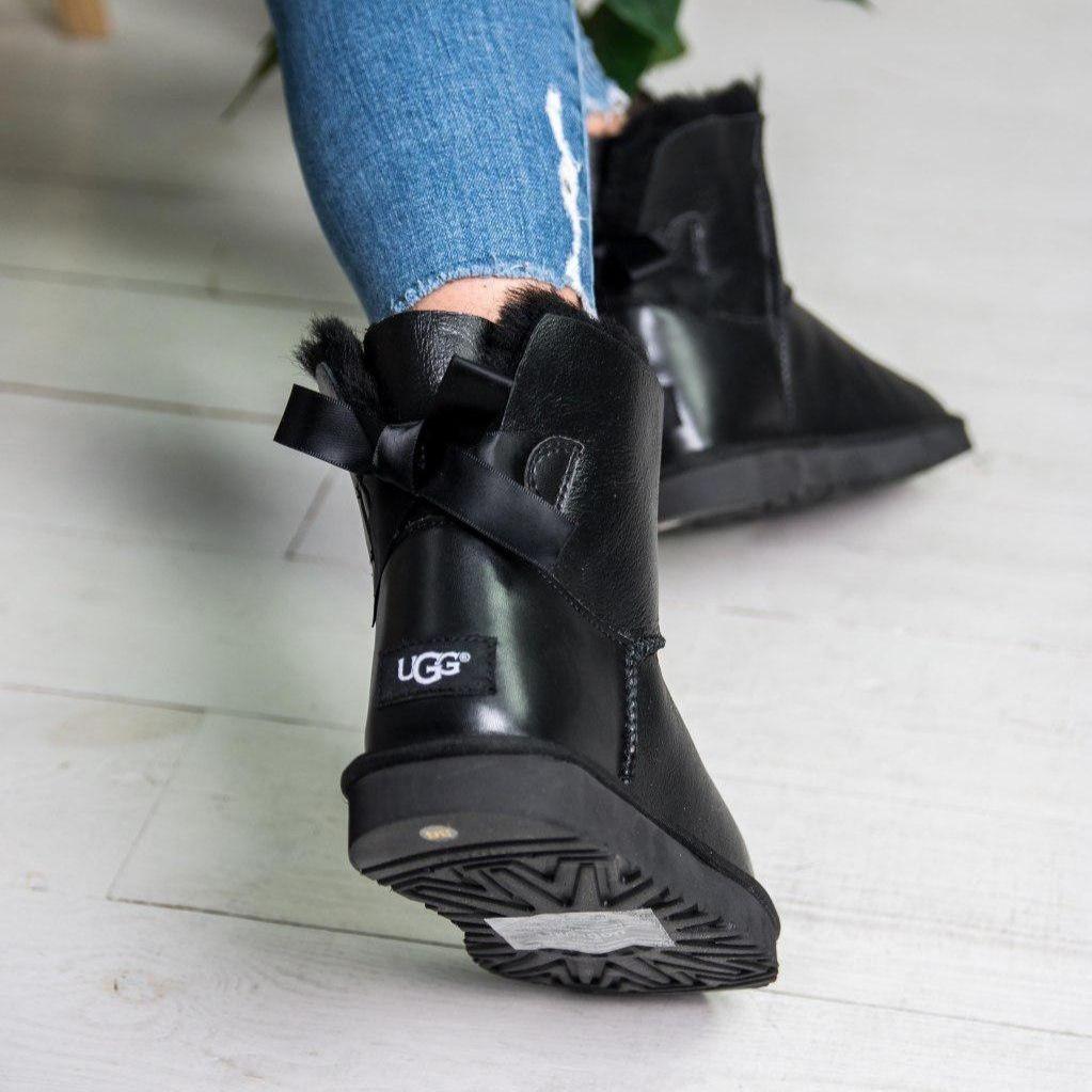 Угги женские в стиле UGG Australia Mini Bailey Bow II Black