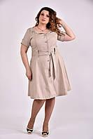 Бежевое платье 0481-2 GARRY-STAR