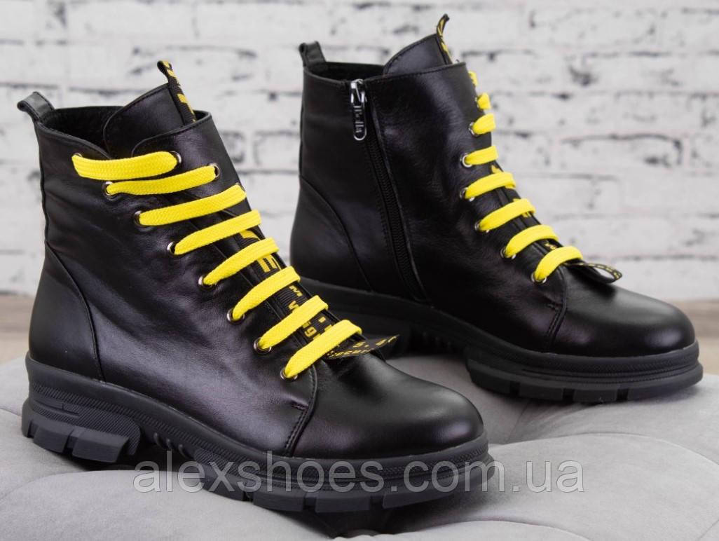 Ботинки молодежные на толстой подошве из натуральной  кожи от производителя модель БС8020-3