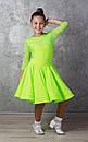Рейтинговое платье Бейсик для бальных танцев Sevenstore 9109 Салатовый, фото 2