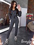 Женский теплый комбинезон на флисе с капюшоном 6605771Q, фото 4