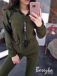 Женский теплый комбинезон на флисе с капюшоном 6605771Q, фото 5