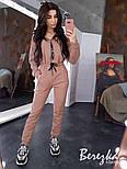 Женский теплый комбинезон на флисе с капюшоном 6605771Q, фото 6