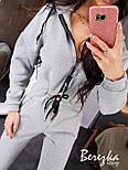 Женский теплый комбинезон на флисе с капюшоном 6605771Q, фото 7