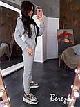 Женский теплый комбинезон на флисе с капюшоном 6605771Q, фото 8