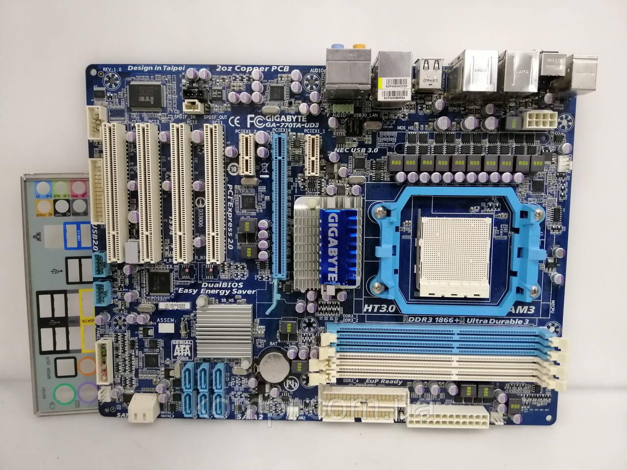 Материнская плата GIGABYTE GA-MA770T-UD3  AM3 DDR3