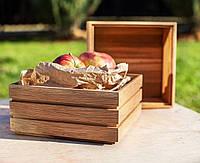 Коробка деревянная для подачи хлеба, фото 1