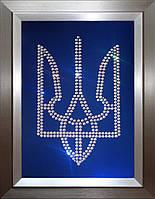 Герб Украины из кристаллов Swarovski