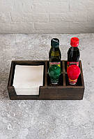 Сафетница из ясеня с отделениями под соль и специи, фото 1