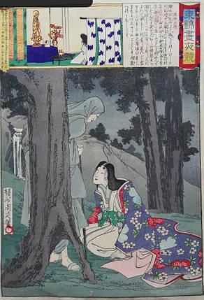 Гравюра Дама Суо, худ Тиканобу 1886 год, фото 2