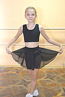 Юбка шифон для занятия танцами на резинке