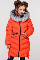 Пальто детское зимнее на девочку Афина2 тм Nui Very Размеры 116- 158