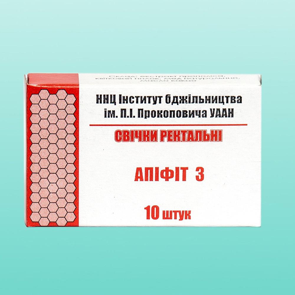 Свечи Апифит 3, с прополисом, цветочной пыльцой, мед, фото 1