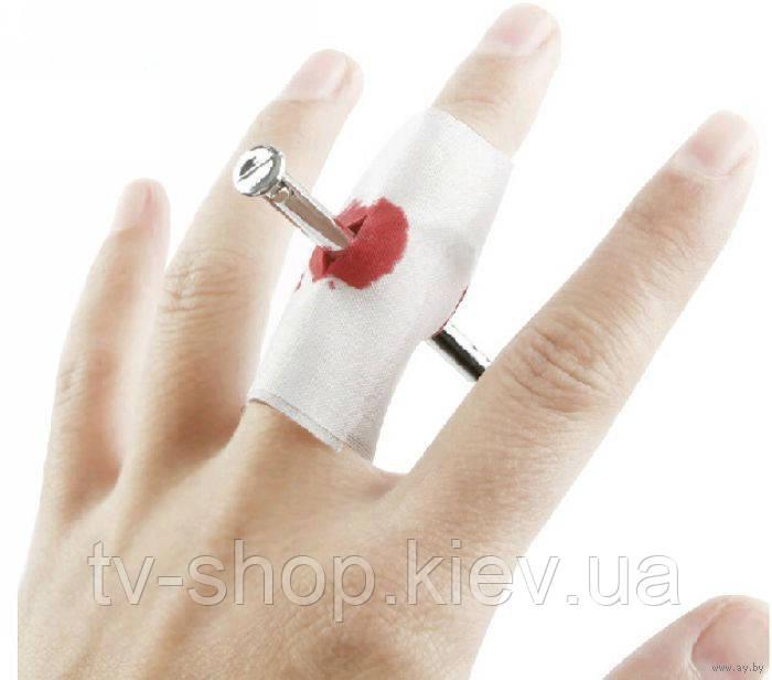Розыгрыш-прикол Пробитый палец