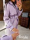 Женское кашемировое Пальто на подкладе под пояс с отложным воротником 66pt224Q, фото 4