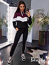 Теплый женский спортивный костюм на флисе с худи 66so773Q, фото 8
