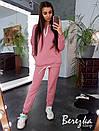 Женский спортивный костюм на флисе с удлиненным худи 66so784Е, фото 2