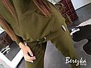 Женский спортивный костюм на флисе с удлиненным худи 66so784Е, фото 4
