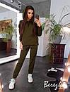 Женский спортивный костюм на флисе с удлиненным худи 66so784Е, фото 5