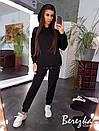 Женский спортивный костюм на флисе с удлиненным худи 66so784Е, фото 6