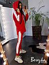 Женский спортивный костюм с удлиненным худи на флисе 66so787Е, фото 2