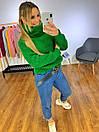 Женский объемный свитер с большим высоким воротником 3ddet639, фото 2