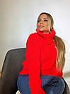 Женский объемный свитер с большим высоким воротником 3ddet639, фото 3
