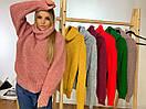 Женский объемный свитер с большим высоким воротником 3ddet639, фото 4