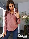 Вельветовая женская рубашка прямого кроя 66bir312Q, фото 2
