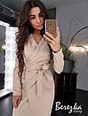 Платье пиджак на запах с длинным рукавом и поясом 66plt194Q, фото 2