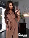 Платье пиджак на запах с длинным рукавом и поясом 66plt194Q, фото 3