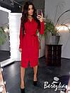 Платье пиджак на запах с длинным рукавом и поясом 66plt194Q, фото 4