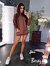 Теплое платье худи с капюшоном и манжетом 66plt195Q, фото 2