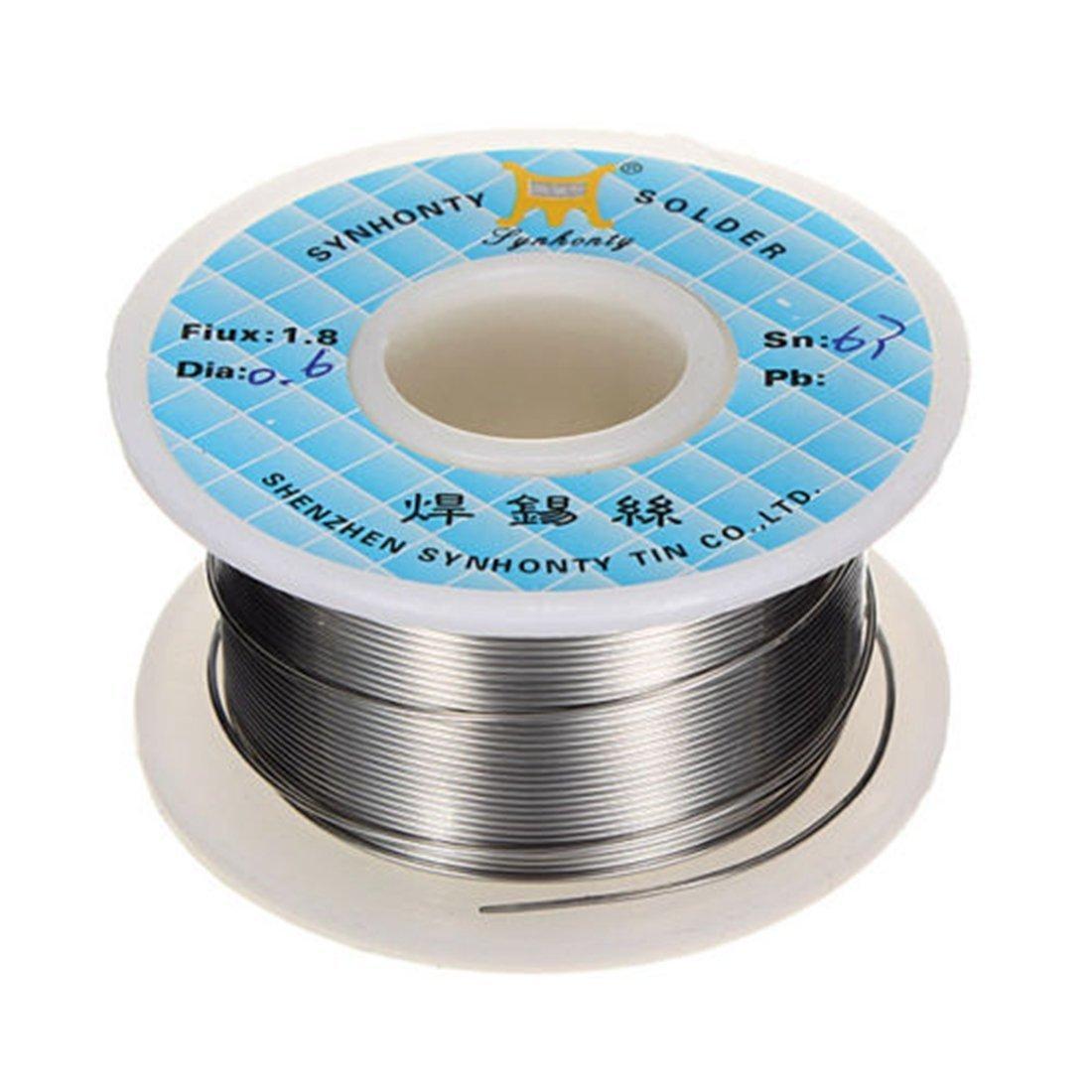 Припой для пайки оловянно-свинцовый Sn63/Pb37 0.6мм с флюсом, 50г
