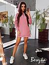 Прямое платье худи из трехнитки на флисе с капюшоном 66plt200Е, фото 2